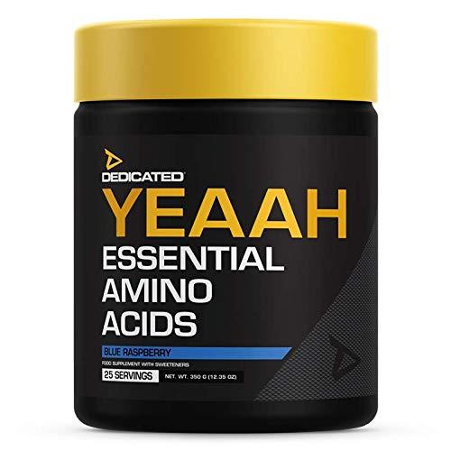 Dedicated Nutrition Yeaah Amino Aminoácido EAA Regeneración muscular muscular, culturismo, 350 g (sandía - sandía)