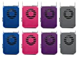 O2COOL 8 Pack Deluxe Necklace Personal Cooling Fans W/Adjustable & Breakaway Lanyard - 2 of Each Color Included