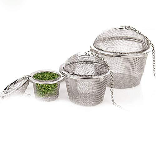 GAKIN Kit de filtro de bola de té de malla fina, reutilizable, bloqueo de especias, herramienta de cocina a base de hierbas, suelta, paquete de