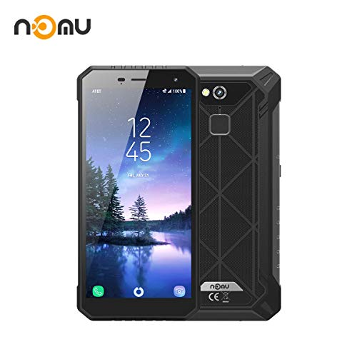 Rugged Smartphone Nomu S50 Pro IP68 Tough Outdoor Phones International Unlocked 5.72 inch FHD Android 8.1 4G LTE Dual SIM 4G RAM 64 ROM 8.0MP+16.0MP Dual Camera for Hiking Skiing X Sport (Black)
