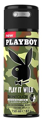 Playboy Play It Wild Deo Body Spray Mann, 150 ml