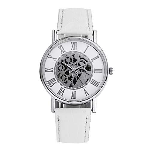 JJY Los Relojes de Manera de Negocios Hueco Horas Reloj de Pulsera de Cuarzo de Alarma Fecha Horas 1pc Hombre Mujer Hombres de Las Mujeres de la Pulsera de la Moda del Reloj (Color : D)