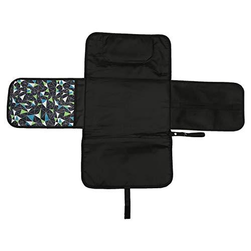 KUIDAMOS Almohadilla para Cambiar pañales portátil Impermeable para bebés, diseño Plegable fácil de Llevar, Almohadillas Transpirables para Cambiar pañales para el bebé(Patrón de Colores)