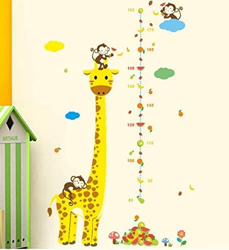 Crescita telemetro Adesivi Metro Righello Decor Adesivi murali camera dei bambini Adesivi murali bambini Calibro di altezza Vinile 50 * 70Cm