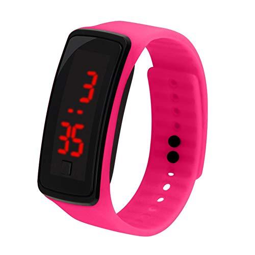 Reloj de pulsera digital para niños con correa de silicona y pantalla LED