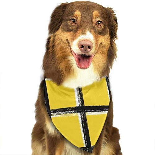 hgdfhfgd Bufanda de Perro Vector Patrón de Tela Escocesa de Tweed sin Costura Cruce Pañuelos para Mascotas Babero Triangular Bufanda de Cabeza Ajustable