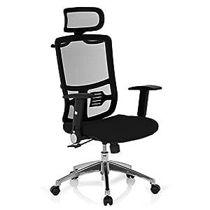 hjh OFFICE 653720 silla de escritorio CAYEN tejido negro / rojo silla de oficina