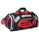 Personalized SportS Duffel Bag With Custom Name & Text - Martial Art Male