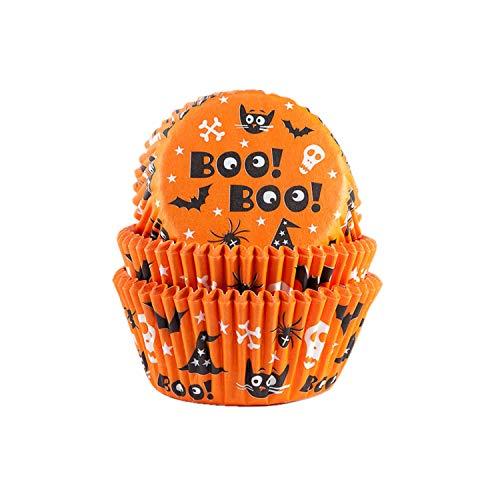House of Marie 50 Muffinförmchen Halloween | Boo | Scary | mit Halloween Motiven