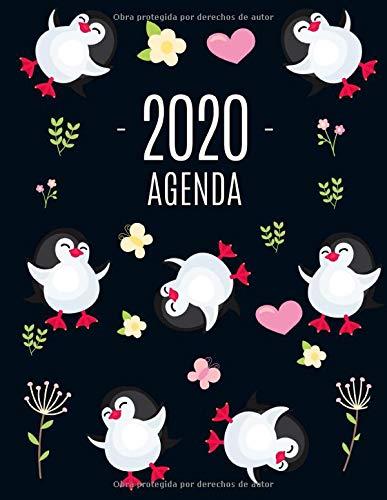 Pingüino Agenda 2020: Planificador Annual | Enero a Diciembre 2020 | Ideal Para la Escuela, el Estudio y la Oficina