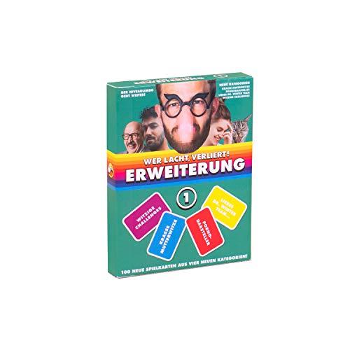 Wer lacht, verliert! - 1.ERWEITERUNG mit 100 neuen Spielkarten in Vier neuen Kategorien!