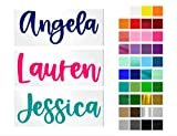 Personalized Name Decal for Yeti Cup, Tumbler, Water Bottle, Laptop, car Window or Other Hard and Smooth Surface Your Choice of Color & Style   Decals by ADavis