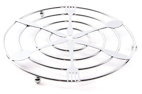 Dessous de plat design Couverts en métal chromé