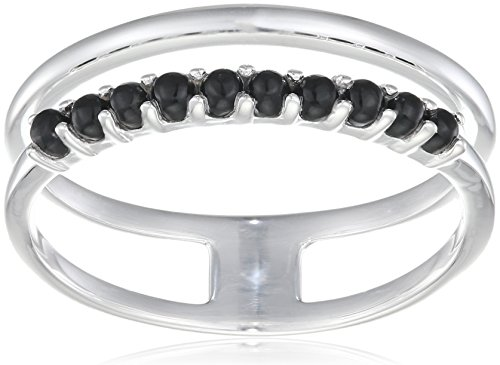 Elements Silver Women Round Agate Ring - Size R R3580B 60