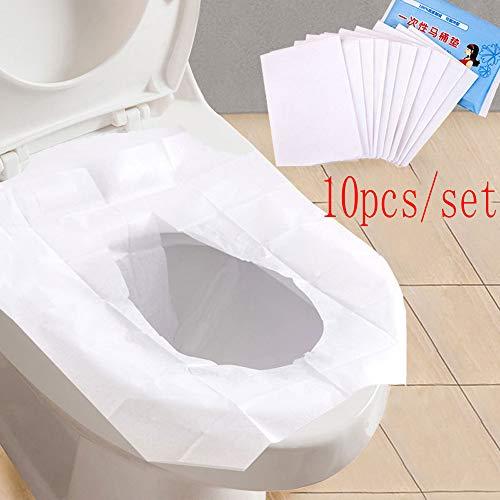 Wc Sitz Cover Reise Wegwerf Papier Toilette Sitzbezüge Transportabler Toilettendeckelbezug Badezimmer WC-Sitz Mat Pad Kissen WC Sitzbezug Toiletten Sitzbezug 10PCS