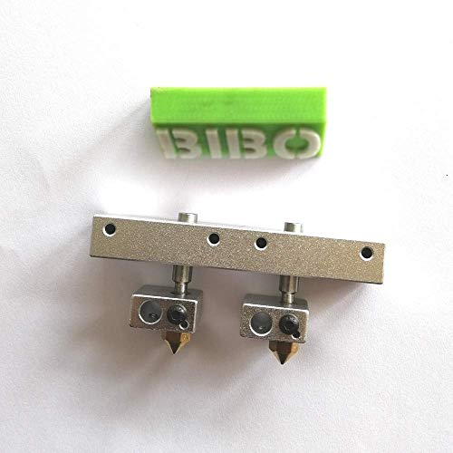 One mounting block with two hot ends suitable for BIBO 2 3d printer(Version A)