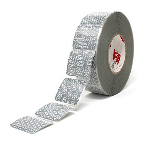 Orafol Reflexite VC 104 Curtain Grade Segmentiert Konturmarkierung Reflexband (Weiß, 1 Meter (8,99 € / Meter))