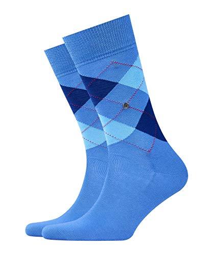 Burlington Herren Manchester M SO Socken, Blickdicht, Blau (Turqoise 6550), 40-46