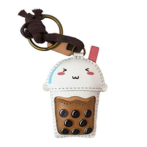 3XU Bubble Tea Leather Toy, Cute Leather Charm, Lovely Keychain, Unique Accessories