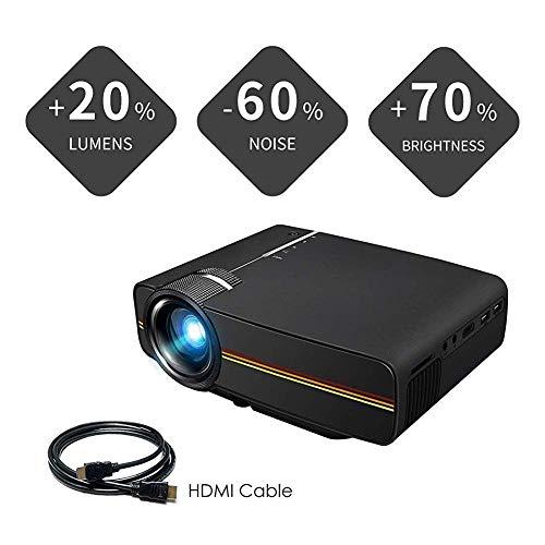 SWEET Proyector WiFi, 4k Mini Proyector Portatil,Vídeo Proyector 2500 Lúmenes Ayuda 1080P 150 Pulgadas Adecuados para El Cine De Cine En Casa De Moda Juego De Entretenimiento Soporte HDMI/USB/SD /