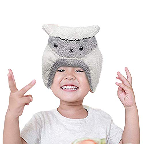 Winter Hat for Toddlers - Stretchable Lamb Kids' Winter Hat - Unisex Toddler Beanies for Boys and Girls by Flipside Pillow - Off-White