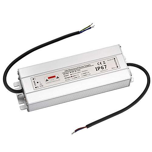 LED Trafo 12V 80W 6,7A IP67,geeignet für LED Stripes und Leuchtmittel,Upgrade Transformator Netzteil Driver 230V auf DC12V Wasserdicht