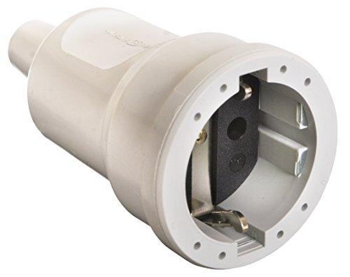 as - Schwabe 62224 PVC-Kupplung, weiß, max. Querschnitt 1,5mm² 230V/16A, 230 V