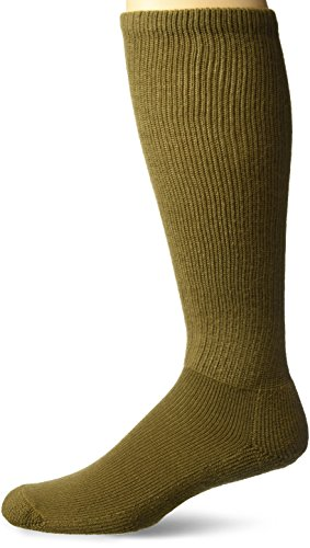 Thorlos Unisex MS Anti-Fatigue Thick Padded Over the Calf Sock, Coyote Brown, Large