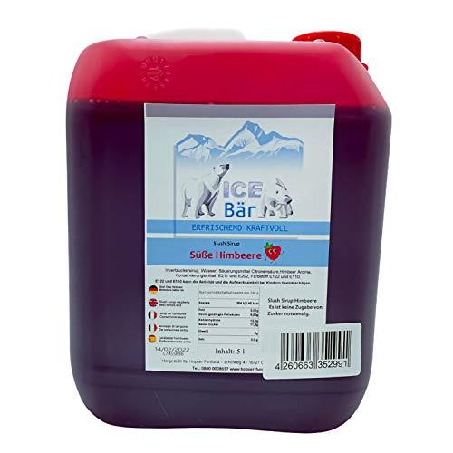 ICE BÄR Sirup Süße Himbeere Slush Konzentrat Slush Ice / Slush AZO FREI Eis 5 Liter Ergibt 30 Liter Slush
