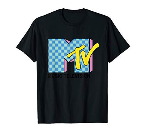Men's Retro MTV Checkerboard Logo T-shirt