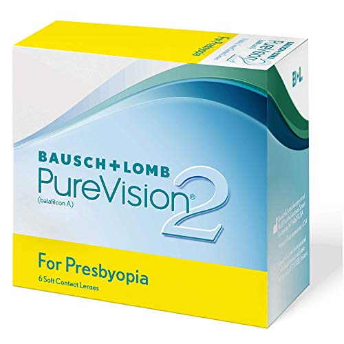 PureVision2 HD for Presbyopia Monatslinsen weich, 6 Stück BC 8.6 mm / DIA 14.5 / 2 Dioptrien / ADD High