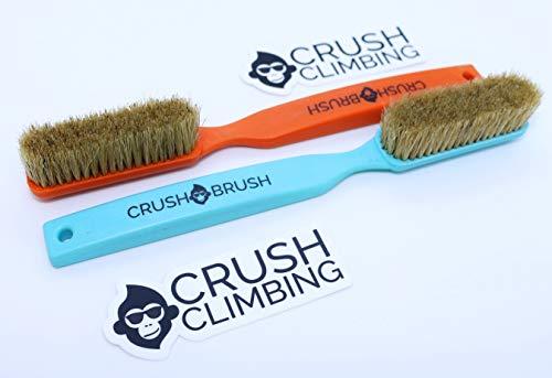 Crush Climbing Crush Brush Boars Hair Large Climbing Brush 2 Pack (Neon Orange & Bright Blue)
