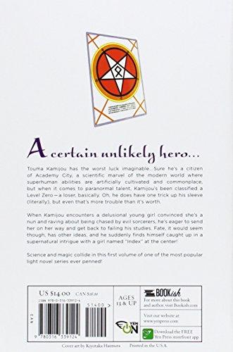 A Certain Magical Index, Vol. 1 - light novel (A Certain Magical Index, 1)