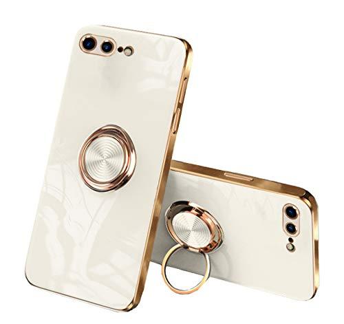 Compatible con iPhone 7 Plus, funda de silicona, iPhone 8 Plus, 360 grados, soporte magnético original para coche, soporte para teléfono móvil (8, iPhone 7 Plus|8 Plus)
