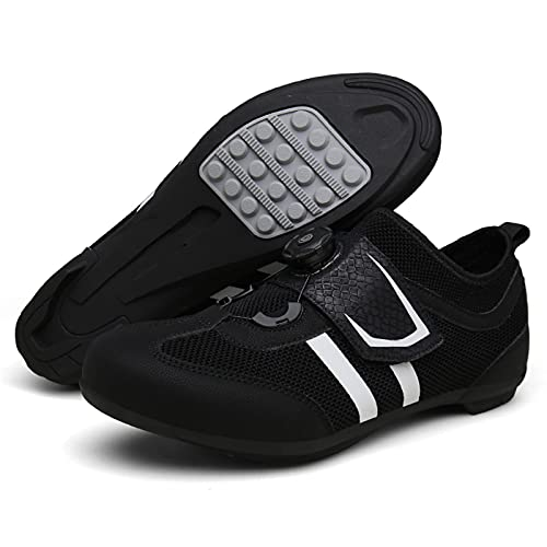 Mens Lock-Free Road Bike Shoes Cycling Shoes Lightweight Breathable MTB Bicycle Shoes Not Compatible with Cleats