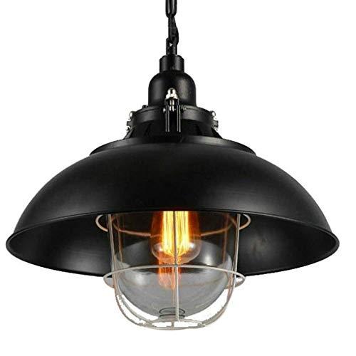 DKORP Araña - Antiguo del Metal de la Vendimia de Cristal de Madera Decorativa Lámpara Colgante Retro de la lámpara Pendiente de la Personalidad Creativa de Vida Comedor Dormitorio Estudio lámpara de