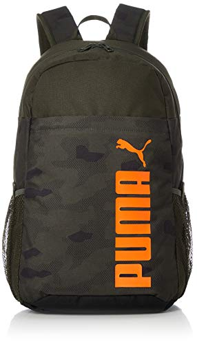 PUMA Unisex Rucksack Style Backpack 076703 Forest Night-Camo AOP w Orange Pop One Size