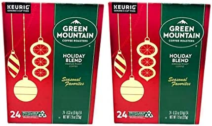Green Mountain Seasonal Holiday Blend Coffee K Cups Pack of 48 K Cups Comes in 2 Boxes 24 K product image
