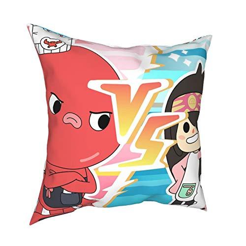 De Cabelo Hospital Comics T-Oca Life niños misterio casa funda de almohada sala de estar, juego de cama cumpleaños con resistente al polvo 45,72 x 45,72 cm