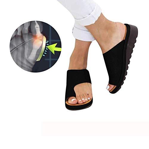 ZMJJ Sandalias Correctoras Mujeres Zapatos Ortopédicos Juanete Corrector Cómoda Plataforma Cuña Casuales De Las Señoras del Dedo Gordo del Pie Corrección Sandalias