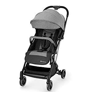 Kinderkraft Lightweight Stroller INDY, Baby Pushchair, Travel Buggy, Easy Folding, Ajustable Backrest to Lying Position, with Accessories, Rain Cover, Footmuff, from Birth to 3.5 Years, 0-15 kg, Gray   1
