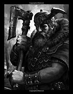 Viking Axe Warrior Notebook: Norse Art Lined Journal | Nordic Theme Notebook for Men | Large Size  8.5 x 11 inches 120 Pages