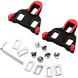 Look Pedals Cleat Set - Bike Pedal Lock - Road Bike Cycling Self-locking Pedal Cleats Set For Shimano SM-SH11 SPD-SL - Red...