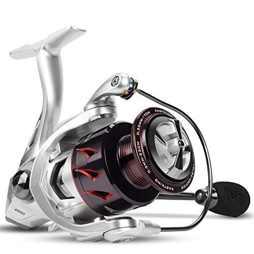 ZZQQ carretes de Pesca Spinning Pesca Reel Fibra de Carbono Lavadora de Arrastre de Aluminio 10kg Arrastre 7 + 1 Rodamientos de Bolas para Agua Salada bobinas (Spool Capacity : 2000 Series)