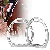 HEEPDD Staffe Equitazione per Bambini, Sella di Sicurezza Leggera per Bambini, Alluminio, Anti Scivolo, molta Forza Leggero Traccia Larga 3D Staffa per Cavallo