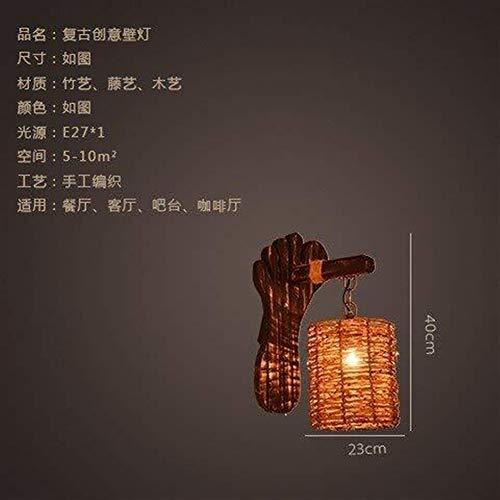 CLJ-LJ Alto gusto Pared de la cabecera de la lámpara de pared Luces Minimalista, Salón dormitorio restaurante Bamboo Wall Art Galería La galería apliques, Estudio Hotel Villa Sala de pasillo puerta de