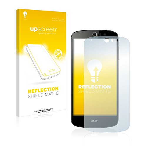 upscreen Entspiegelungs-Schutzfolie kompatibel mit Acer Liquid Z530 – Anti-Reflex Bildschirmschutz-Folie Matt