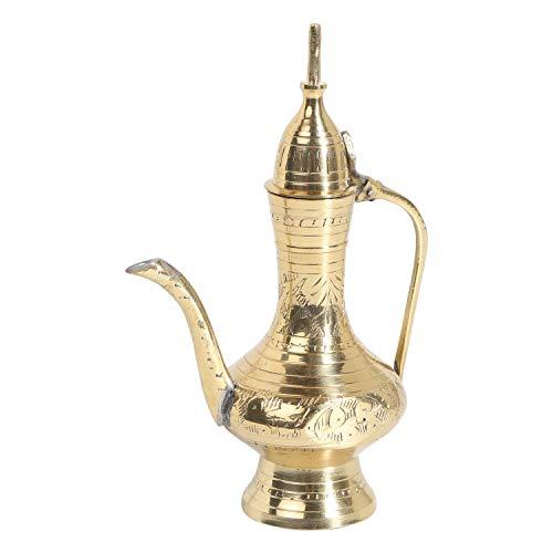 Casa Moro Handgefertigte marokkanische Kanne aus Messing Ramadan S Höhe 15 cm im Antik-Gold-Look | Zierkanne & Dekokanne für ihre Zimmer-Pflanzen & schöne Dekoration | TA6034