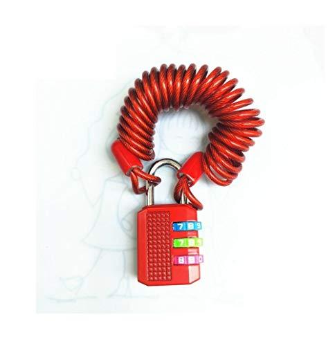 Lengthened Retractable Wire Rope Code Lock Padlock, Luggage Bag Backpack Code Lock-Lock +1 Meter