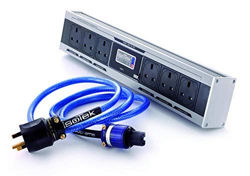 IsoTek Steckerleiste EVO3 Sirius mit Netzfilter Plus Premier C13 Netzkabel 1,5m schwarz